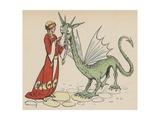 Princess with Friendly Dragon