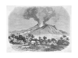Eruption of Mount Pelee  in the Island of Martinique Engraving