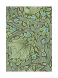 William Morris Wallpaper Sample with Forget-Me-Nots