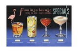 Flamingo Lounge Specials Menu and Drinks Card