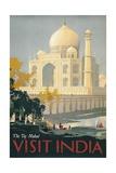 Travel Poster of the Taj Mahal