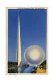 Trylon and Perisphere  New York World's Fair Postcard