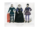 Portrait of Antoine De Saint-Chamand  an Unknown Lady and Henry Iv of France