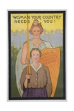 Woman Your Country Needs You Poster