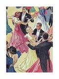 Couples Dancing in Ballroom