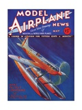 Vintage Cover Art of a Diving Supermarine S6B Airplane