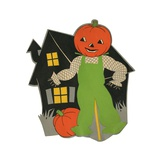 Pumpkin Scarecrow and Haunted House