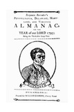 Title Page to Benjamin Banneker's Almanac
