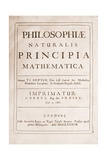 Title Page for Philosophiae Naturalis Principia Mathematica