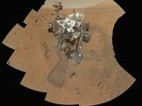 Curiosity Rover at Rocknest Site