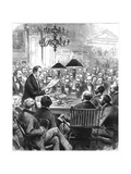 Heinrich Schliemann Lecturing in London