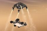 Curiosity's Sky Crane Maneuver
