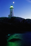 Peggy's Cove Lighthouse at Twilight