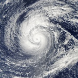Satellite Image of Typhoon Francisco over the Paciific Ocean