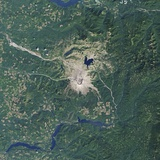 Satellite Image of the Mount St Helens National Volcanic Monument