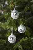 Mirrored Christmas Ornaments on Christmas Tree