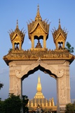 Pha That Luang Gate and Stupa