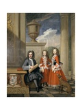 Portrait of Thomas Coningsby  Earl Coningsby  and His Two Daughters