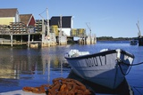 Boat and Fishermen's Wharf in Nova Scotia