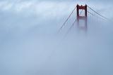 Fog Surrounding Golden Gate Bridge