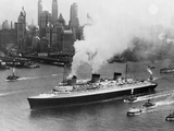 SS Normandie in New York Harbor