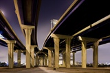 Highway Overpasses at Night