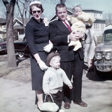 Young Family Dressed in the Sunday Best  Ca 1960