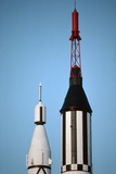 Mercury Space Capsule on Rocket
