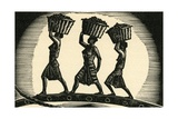 Women Carrying Baskets on their Heads
