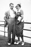 Young Couple Portrait on Boardwalk  Ca 1929