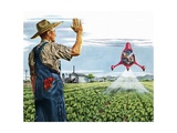 Farmer Waving to a Crop Duster