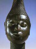 Benin Brass Head of Idia  Queen Mother of Benin