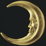 Gilded Crescent Moon