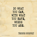 Do What You Can - Theodore Roosevelt Classic Quote