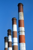 Smokestacks at a Power Plant