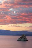 Fiery Sunset at Mono Lake  Sierra Nevada