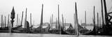 Gondolas Moored at a Harbor  San Marco Giardinetti  Venice  Italy