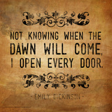 Now Knowing - Emily Dickinson Classic Quote