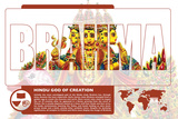 Brahma World Mythology Poster