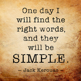 One Day - Jack Kerouac Classic Quote