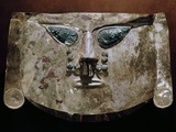 Gold Lambayeque Burial Mask with Copper Inlay Eyes