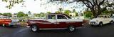 Cars Moving on the Road  Havana  Cuba
