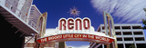 Low Angle View of the Reno Arch at Virginia Street  Reno  Nevada  USA