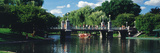 Swan Boat in the Pond at Boston Public Garden  Boston  Massachusetts  USA