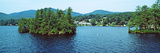 View from the Minne Ha Ha Steamboat  Lake George  New York State  USA