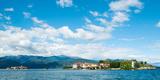 Buildings on an Island in a Lake  Isola Dei Pescatori  Isola Bella  Stresa  Lake Maggiore
