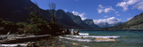Lake in Front of Mountains  St Mary Lake  Us Glacier National Park  Montana  USA
