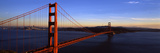 Suspension Bridge across the Sea  Golden Gate Bridge  San Francisco  California  USA