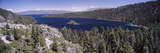 High Angle View of a Lake with Mountains in the Background  Lake Tahoe  California  USA