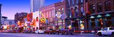 Street Scene at Dusk  Nashville  Tennessee  USA